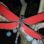 Plasma gesneden vleugels op lijf met lasrullen ca 40 cm over de vleugels  Prijs indicatie € 295,--