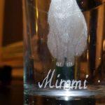 Ets en graveerwerk op klein glas  Prijsindicatie € 95,--
