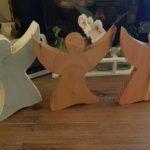 Engeltjes  gemaakt van steigerhout, eiken of Douglas Zeer beperkte oplage Prijs indicatie € 44,95 per stuk